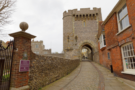 LEWES, GREAT BRITAIN - FEB 25, 2017: The norman castle in Lewes, East Sussex. February 25, 2017 in Lewes, Great Britain. Editorial