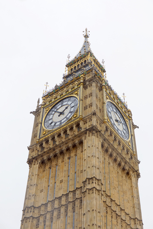 LONDON, GREAT BRITAIN - FEB 27, 2017: The clock Big Ben or the Great Bell in the Palace of Westminster. February 27, 2017 in London, Great Britain Stock Photo