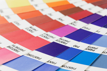 Tavolozza di colori colorati Archivio Fotografico
