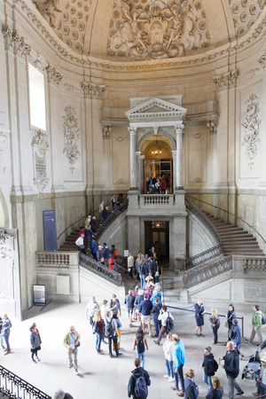 STOCKHOLM, SWEDEN - JUN 06, 2018: Interiour of the castle in Stockholm, open for the swedish people to celebrate the swedish national day June 06 in Stockholm