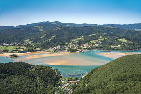 Natural protected area in the north of Spain known as the biosphere reserve of urdaibai