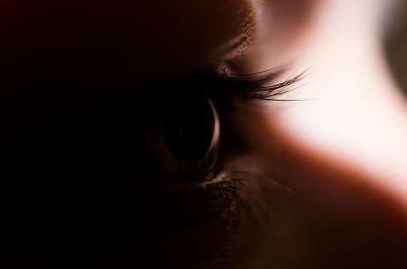 eyecatcher: Human eye in focus Stock Photo