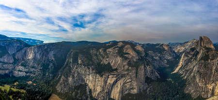 dome of the rock: The granite rock Half Dome in Yosemite National Park Stock Photo