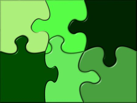 puzzle containing various tints of green photo