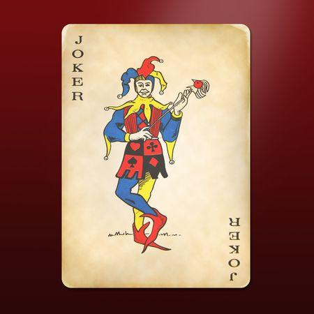 joker card: antique and multi-used joker Editorial