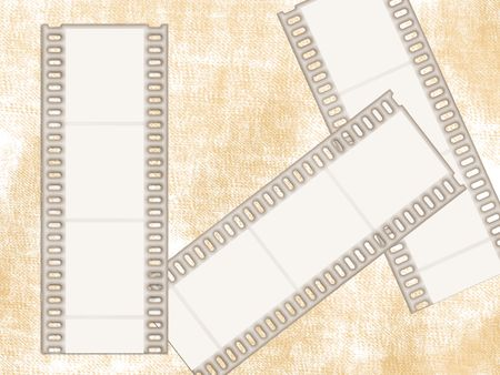 pics: film strips to put some pics in Stock Photo