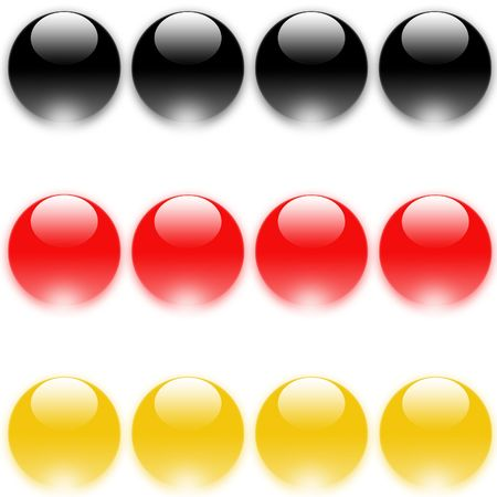 european economic community: german flag made from color buttons