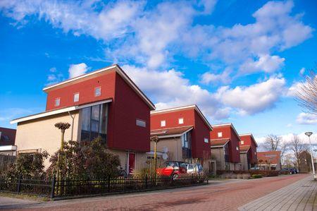 row houses: di recente costruzione case a schiera in Olanda  Archivio Fotografico