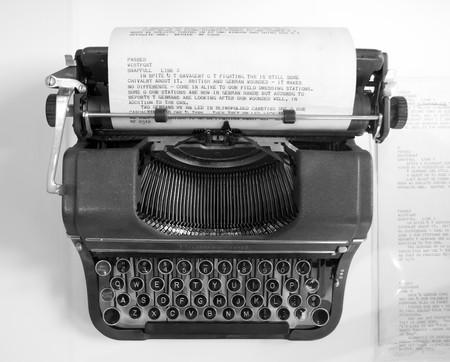editor: old classic typewriter