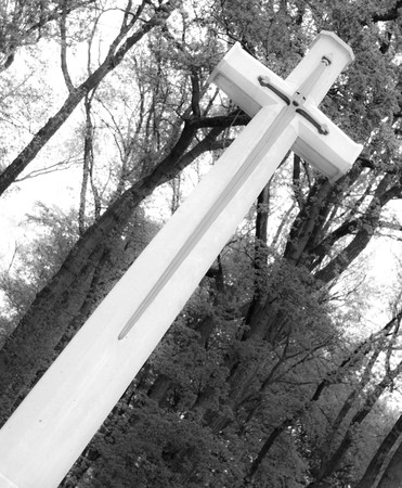 memorial cross: memoriale Croce al cimitero di guerra in Olanda Oosterbeek  Archivio Fotografico