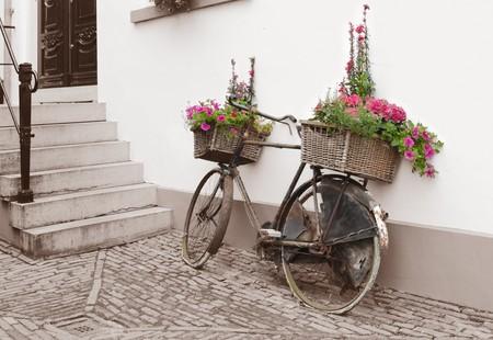 decorated bike: decorato di biciclette  Archivio Fotografico
