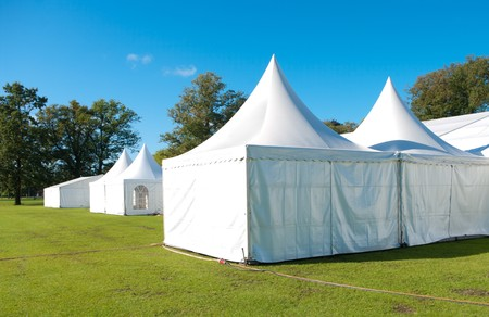 summer festival: large white tent for large events