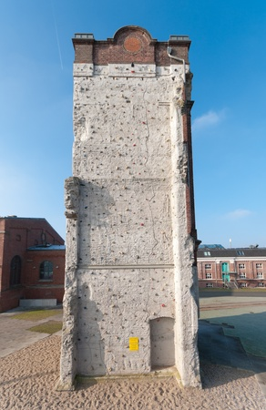 old industrial building now used as a climbing wall photo
