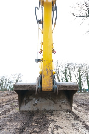 wide angle view of the scoop of an excavator Stock Photo - 8878518
