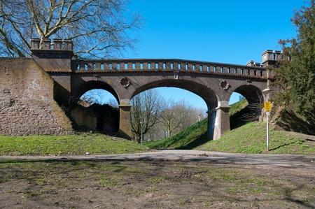 remake: remake of old roman footbridge in the Valkhof park in Nijmegen, Netherlands