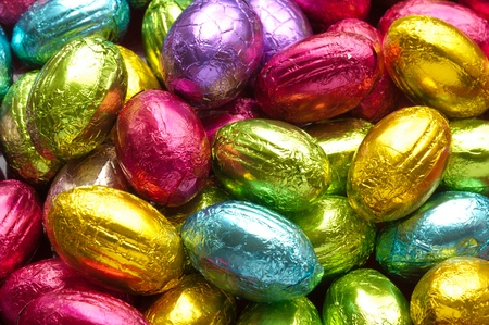 colorfull chocolate easter eggs Stock Photo - 9293215
