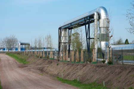 giant pipeline through agracultural landscape in the netherlands Stock Photo - 9528820
