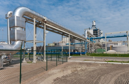 large pipeline construction leading to a salt procucing factory in hengelo, netherlands