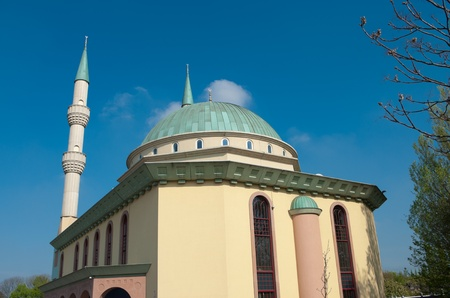immigrants: mevlana mosque in Rotterdam, located in Spangen, a district with over 80 percent immigrants