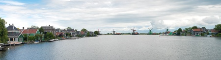 famous industries: panoramic view of the zaanse schans, north of amsterdam