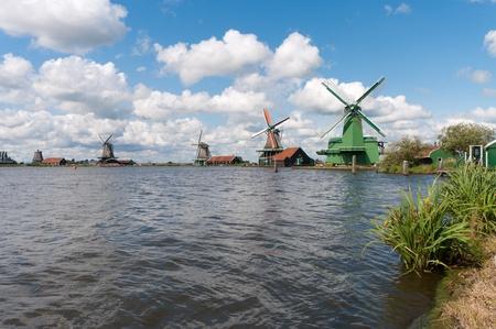 windmills from the Zaanse schans, north of amsterdam
