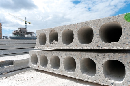 large concrete blocks ready to be used Stock Photo