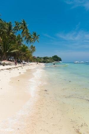Alona white beach on Bohol, Philippines
