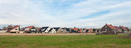 panoramic view of a residential area behind a wall Stock Photo - 11764238