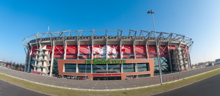 ENSCHEDE, NETHERLANDS - NOVEMBER 12: FC Twente stadium in Enschede, Netherlands on November 12, 2011 in Enschede, Netherlands. In 2010 they became national champion for the first time in their history.