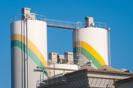 part of a cement factory Stock Photo - 11764453