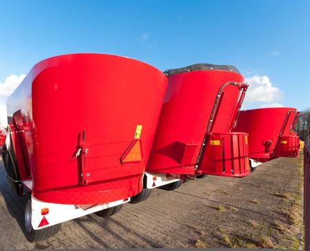 new agricultural feeding and mixing machines ready to be transported Stock Photo - 12319571