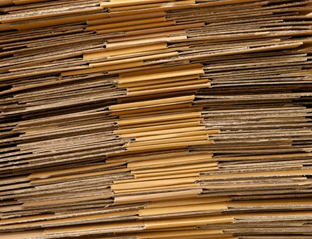 stack of folded cartboard boxes Stock Photo - 12669991