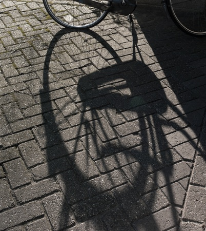 silhouette of a bicycle photo