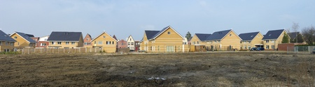 panoramic view of a newly build residential area photo