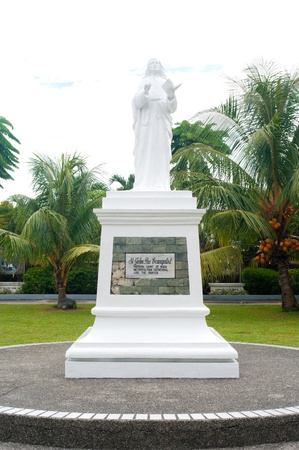 statue of st. John the evangelist in Naga City, Philippines photo