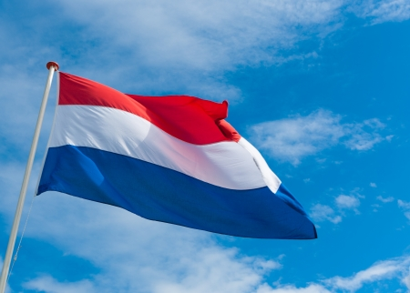 dutch flag blowing in the wind Stock Photo - 13642809