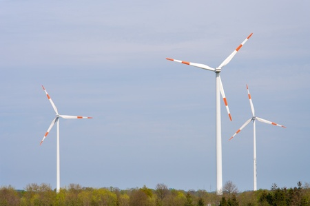 several windmills in a rural landscape Stock Photo - 13841367