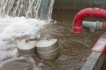 floater: small basin for recycling water in a military camp