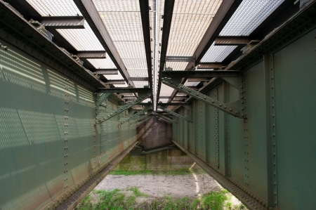 steel girders belonging to a railway bridge Stock Photo - 14118705