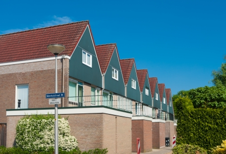 identical: row of identical detached houses in Oldenzaal
