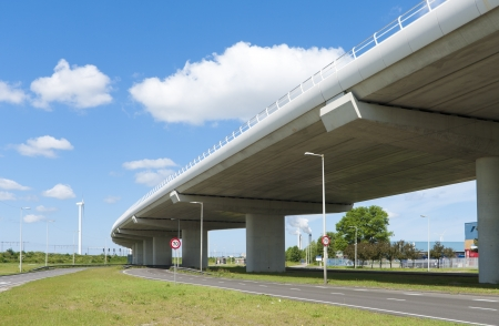 Extend: highway viaduct with another road under it