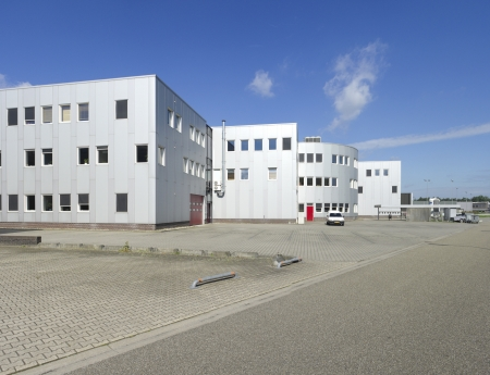 modern industrial building with space for several businesses and offices
