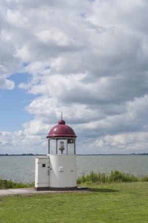 marken: very small lighthouse in Marken, north of Amsterdam