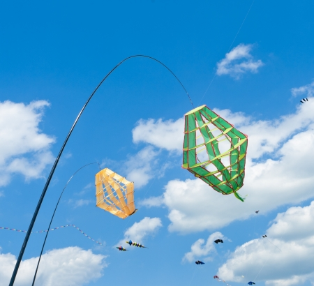 kite windsocks during the 3rd international kite festival in Twenterand, Netherlands photo