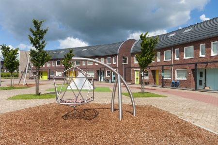 newly build residential area with kids playground