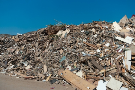 large heap of waste wood to be recycled Stock Photo - 16693450