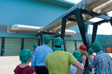 guided tour at a modern waste treatment plant in the Netherlands Stock Photo - 16768098