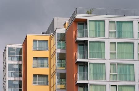 modern apartment buildings in the Media harbor of Dusseldorf, Germany