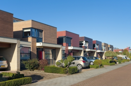 row of modern town houses in Oldenzaal, Netherlands