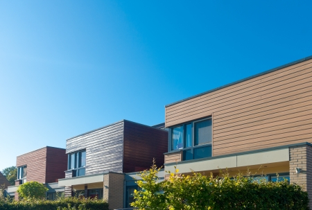 row of modern town houses in Oldenzaal, Netherlands Stock Photo - 17678844